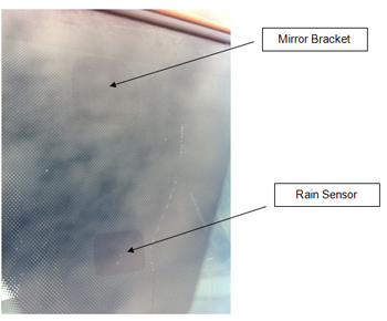 Mirror Bracket and Rain Sensor
